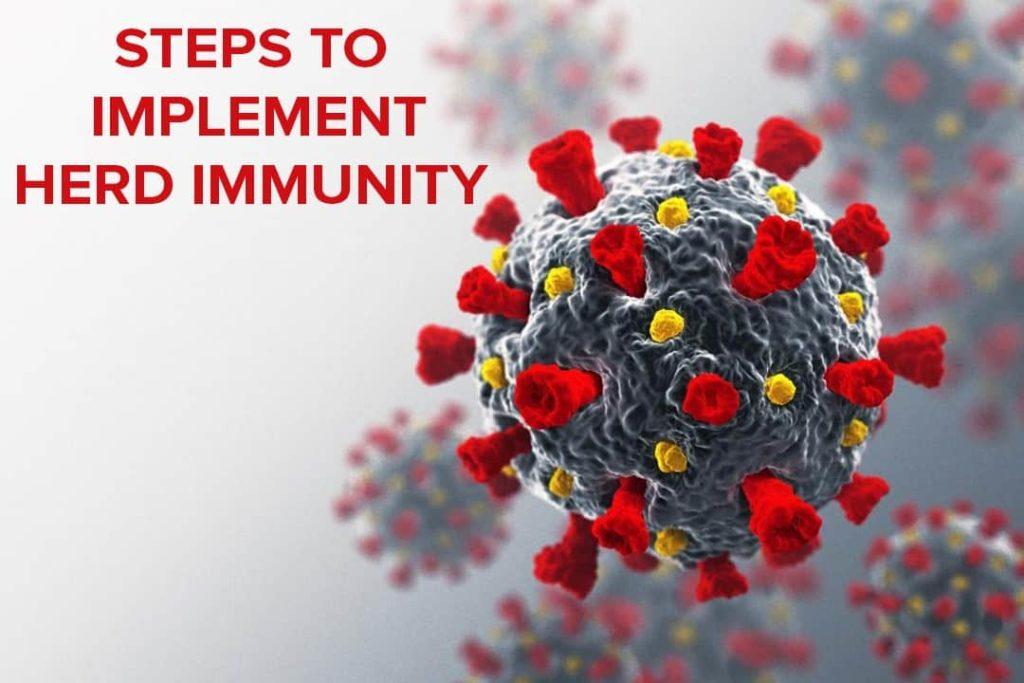 Three steps to implement Herd Immunity