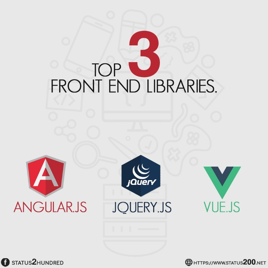 top 3 front end libraries