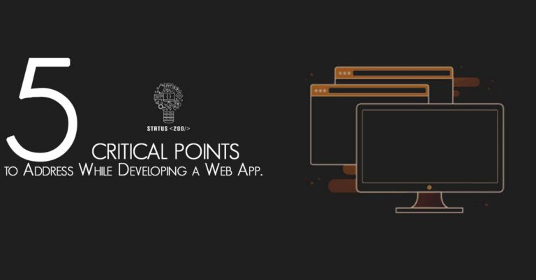 Developing a Web App
