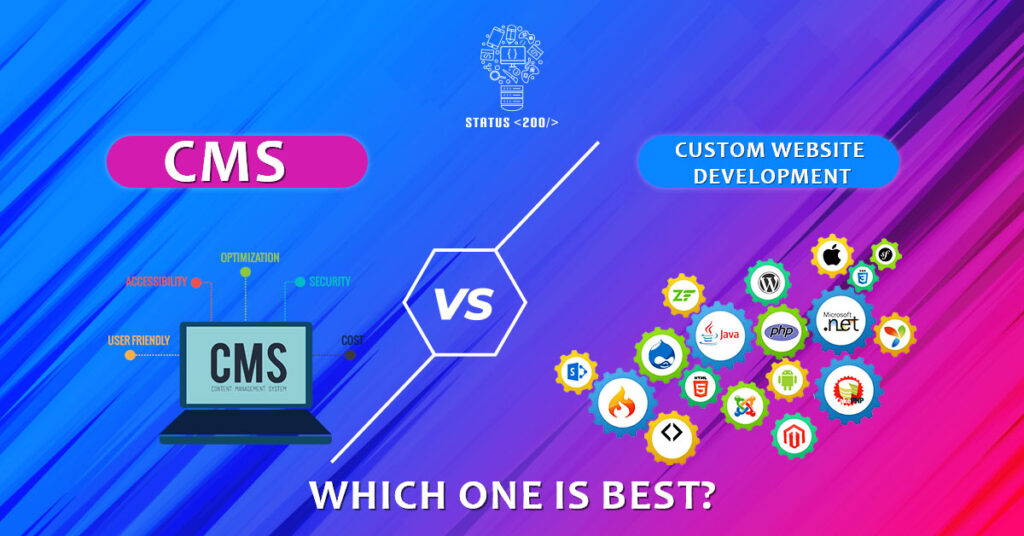 CMS vs Custom Website Development