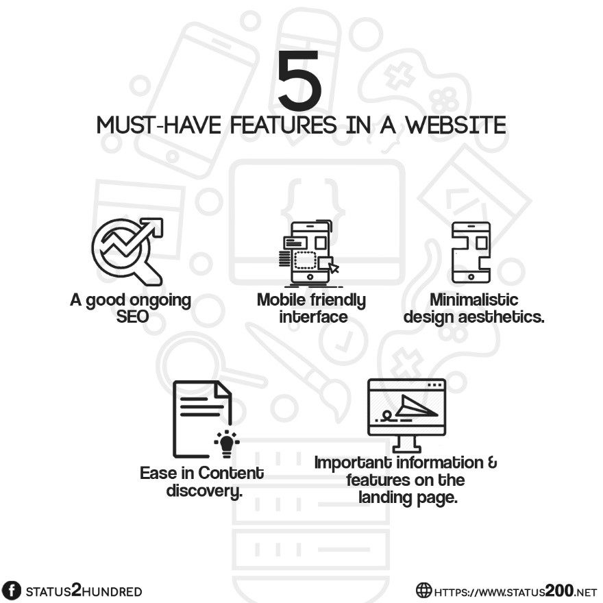 5 features must have in website